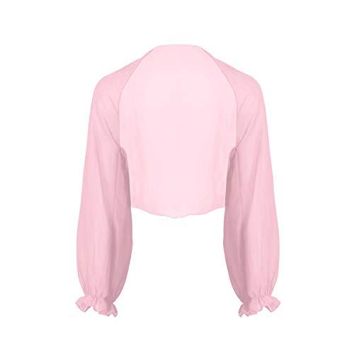 YiZYiF Damen Chiffon Cardigan Festlich Bolero mit Glocken Ärmel Leichte Dünne Jacke als Bikini Cover Up, 9 Farben A...