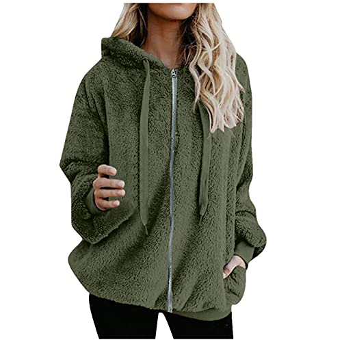 teddy mantel winter hoodie damen große größen pullover damen grosse grössen oversize kleid longpullover damen...
