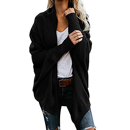 MEIbax Damen Strickjacke Sweater beiläufige gestrickte lose Lange Hülsen Pullover Cardigan Mantel (10 Farben)
